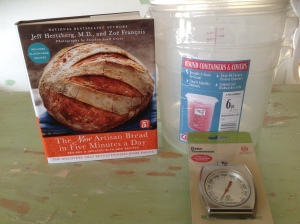 Book, Food Storage Containers & Oven Thermometer.